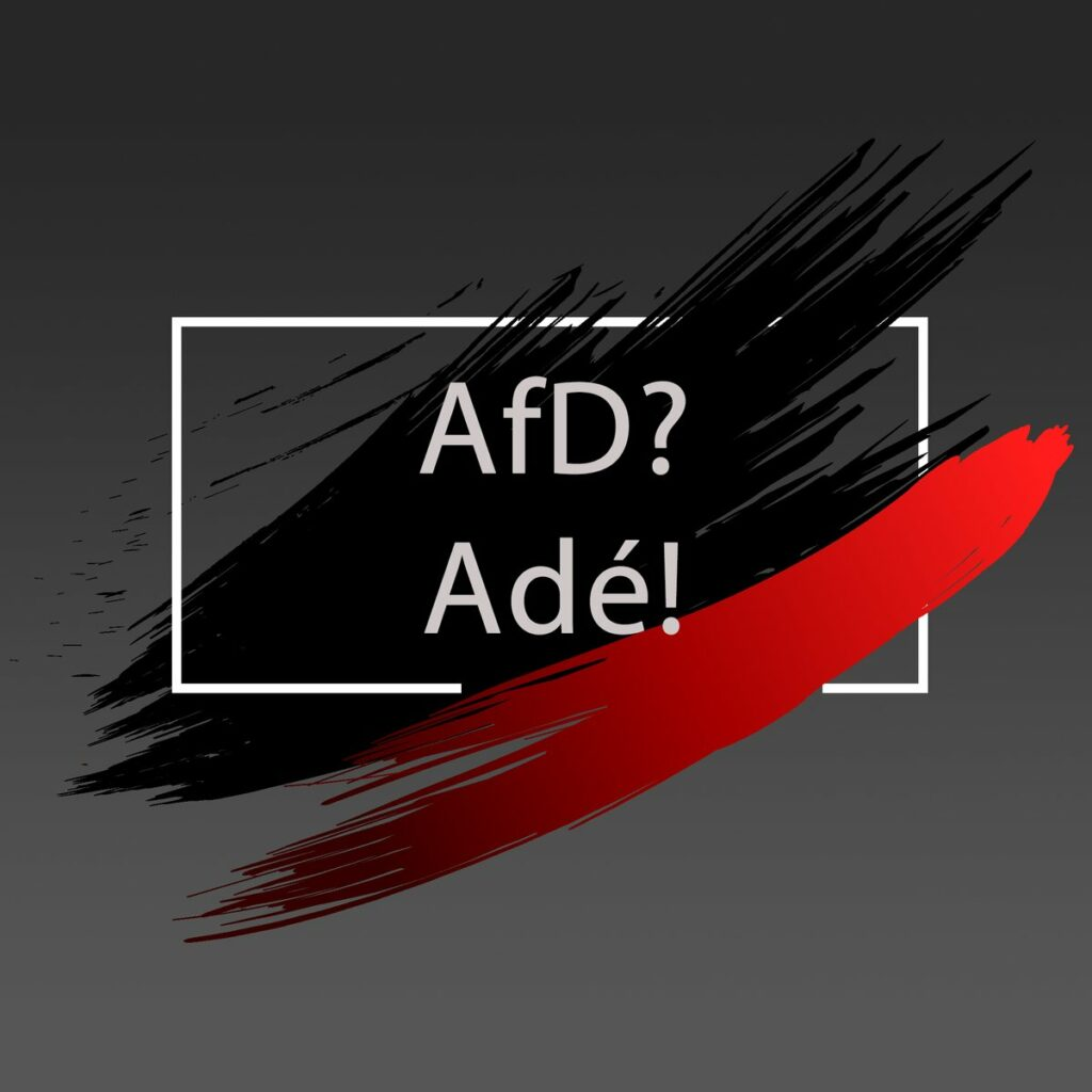 Das Logo der Initiative AfD? - Adé!