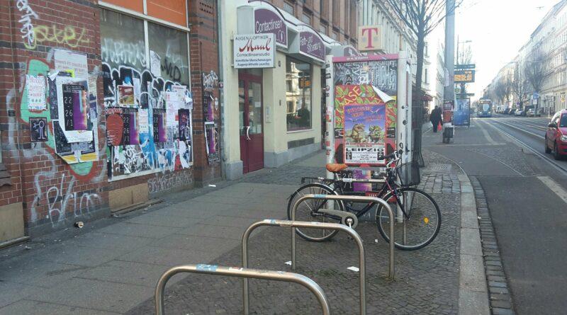 Fahrradständer auf der Eisenbahnstraße