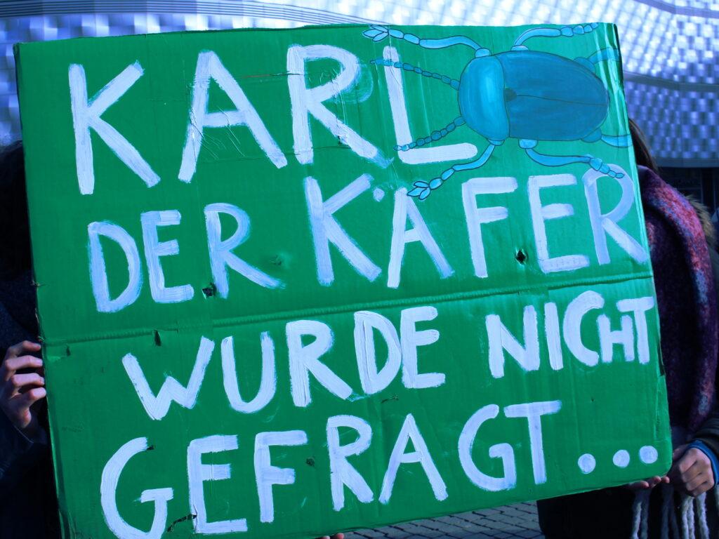 Plakat bei der Fridays For Future Aktion am 8.2.19 in Leipzig