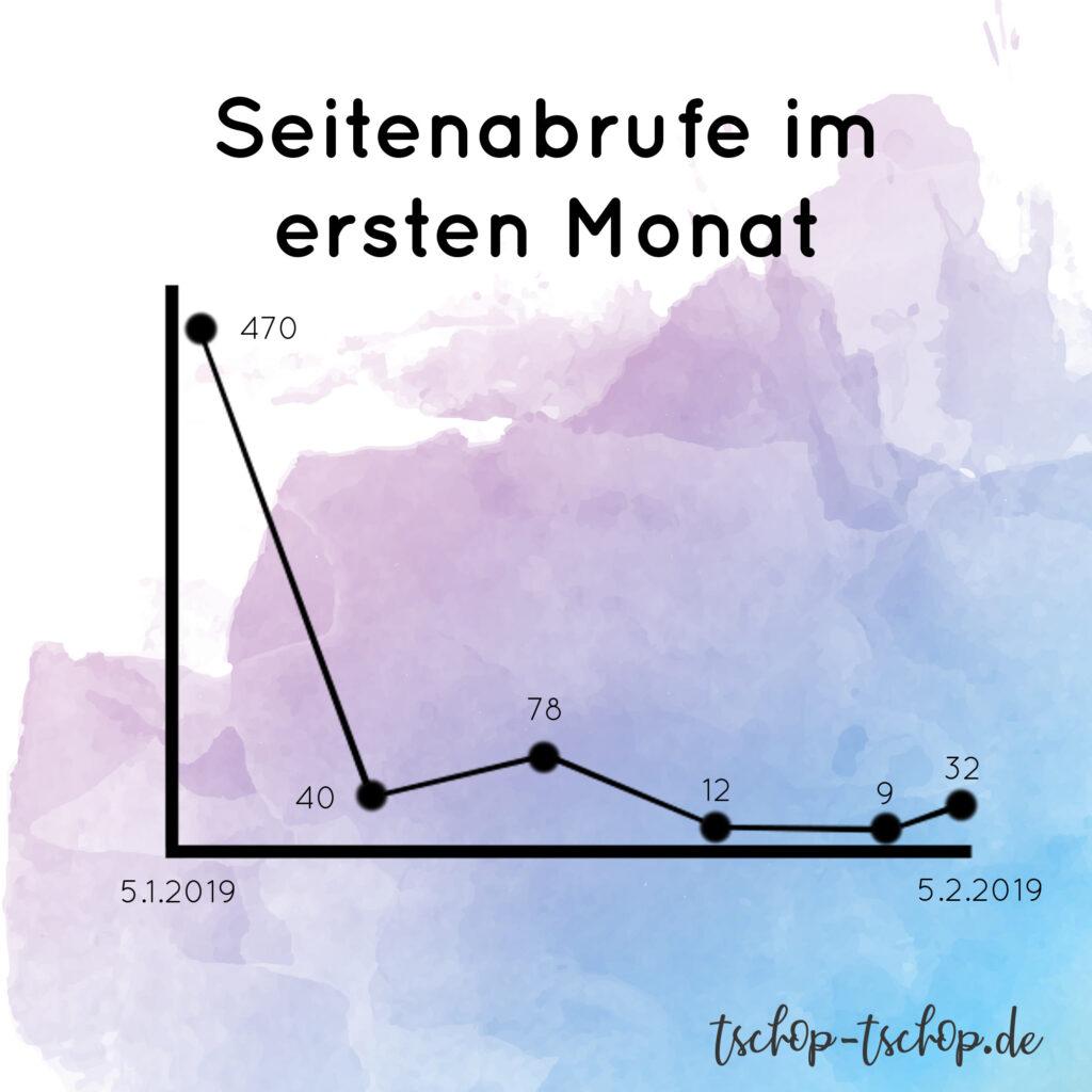 Seitenabrufe im ersten Monat tschop-tschop.de