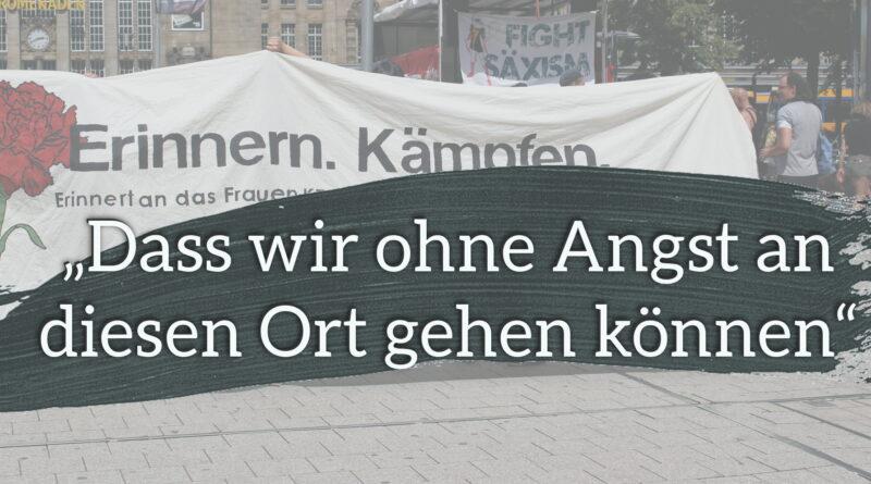 """""""Dass wir ohne Angst an diesen Ort gehen können"""" - Protest gegen den Nazitreff in der Kamenzer Straße 10/12 in Leipzig"""