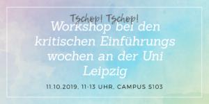 Tschop! Tschop! Workshop bei den KEW an der Uni Leipzig