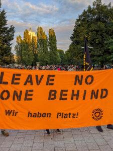 Transparent: Leave No One Behind Wir haben Platz!